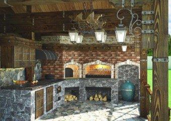 многофункциональная печь барбекю