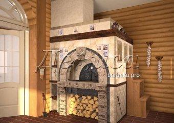 Русская печь с лежанкой «Брейтово»